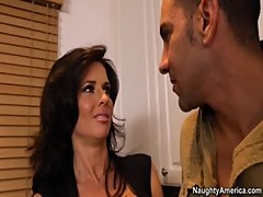 Gorgeous Busty Mom Veronica Avluv Helps Guy With Women By Fucking In Kitchen