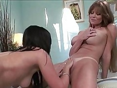 Heavy chested lesbian momma licking honey pot to tight ass b...