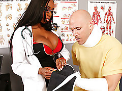 Hot doctor gets fucked by her patient