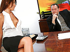 Exotic look secreatary rammed by her boss