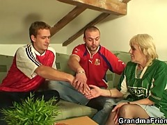 Hot milf seduces two big dicks at the same time