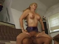 Mature slut in sexy stockings fucked from behind