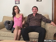 Naughty GF and his parents have sex