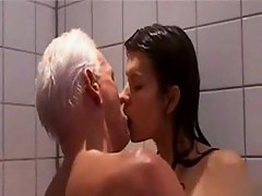 Old fart fucking yummy brunette