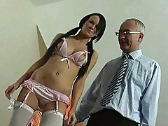 Willing British girl fucking older man