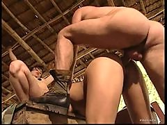 Blondes and Brunettes Take On Two Guys In Group Sex Orgy