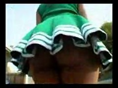 Big ass black cheerleader fucked outdoors