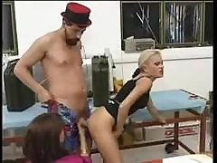 Two Girls Having Sex With One Man