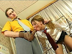 Alice&Mike kinky pantyhose job video