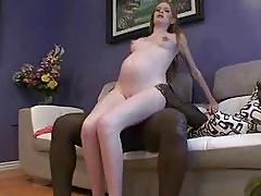 Hardcore Pregnant Sex Goes Interracial