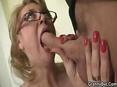 Mature Blonde Office Boss Makes Him Bang Her Hard At Work
