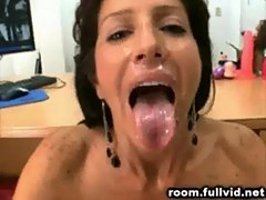 Milf backroom facial