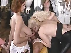 Classic Porn With These Busty Babes Getting Nailed In Threesome