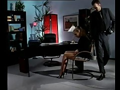 Secretary fucks in nylons