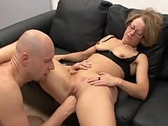 Mature slut in glasses fisted and fucked