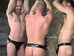 Nasty gay master enjoys wild sex with his sex slave in bdsm sex video with extreme blowjobs