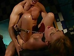 Sexy girl getting bondaged and fucked