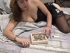 Smoking slut in a titillating sex trip