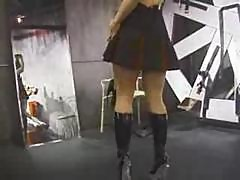 Nice slavegirl bound and spanked