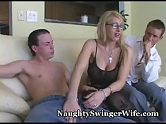 Naughty wife fed two cocks