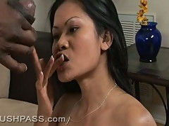 Stupid slut Priva only sucks cock for the cum she receives at the end