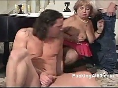 BBW granny in dirty threesome