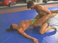 Topless Mixed Wrestling - Fitness Model C ...