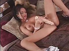 Lovely whore Crissy Moran gliding more of her toy on her twa...