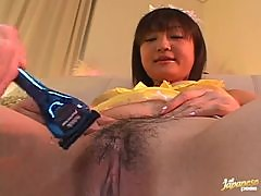 Sex Toys Session With A Horny Asian Babe And Her Hairy Pussy