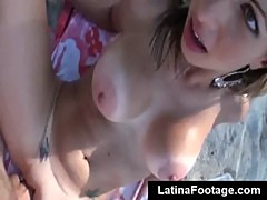 Big butt latina rides cock hard in POV