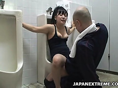 Mosaic: Girl bound on public toilet