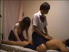Schoolgirls massage part 1