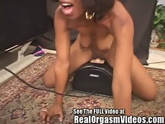 Sexy Ebony Caren Has A Screaming Orgasm Riding Dirty Ds Sybian!