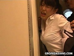 Young Woman groped and fucked in a busine ...