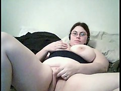 Fat Chubby Teen Friend showing Ass, Tits and Pussy on Cam