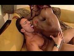 Muscle babe in cock workout