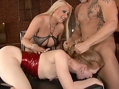Madison Young does a three-way with Candy Manson and one lucky guy