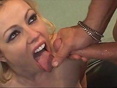 Horny Adrianna Nicole gets her ass drilled then gets jizzed in the face