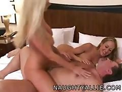 Allie Sinn And Brandi Love Team Up On Michael And Trade Banging Him