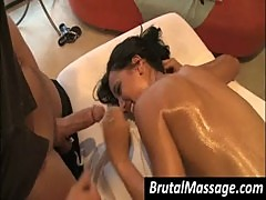 Amia Miley gets pussy massaged and mouth fucked