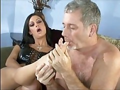 Hot brunette Angelina Valentine rides a brimming boner with ...