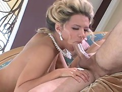Cum loving Ashlynn Brooke takes a long hard cock on her warm mouth