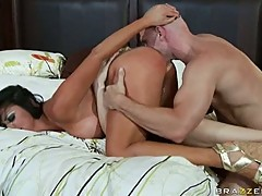 Audrey Bitoni enjoys getting fucked by a huge cock doggy style