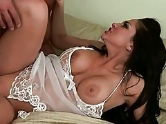 Gorgeously hot Audrey Bitoni gets her cookie smashed in bed ...