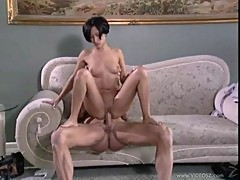 Beautiful brunette august night fucking her cyber-stalker
