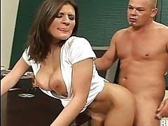 My cock ended up between Austin Kincaid big tits