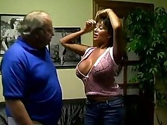 Ava Devine blows old mans big shaft