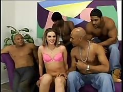 Brunette Brianna Love In A Gangbang With All Black Cocks