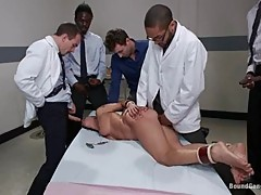 Britney Stevens gets ready for a gang bang