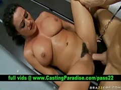 Charley chase, brunette realy hard fucked and cumshoot